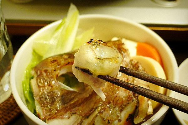 鯛ちり鍋の食べ方(1)