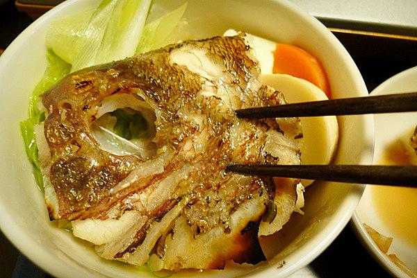 鯛ちり鍋の食べ方(2)