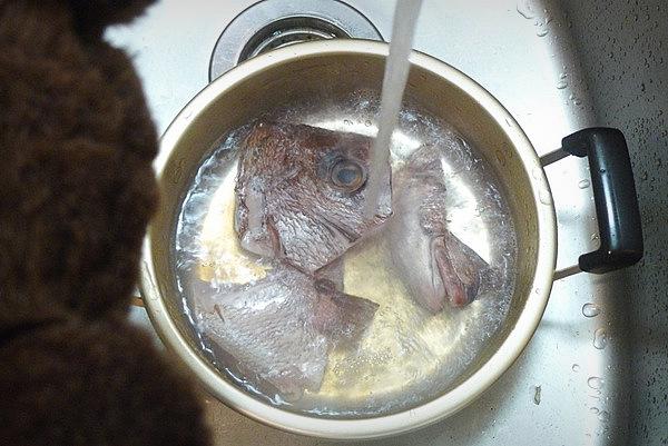 鯛あら煮付けの作り方(1)