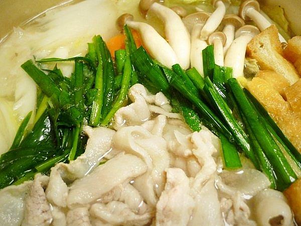 ニラと豚肉の鍋