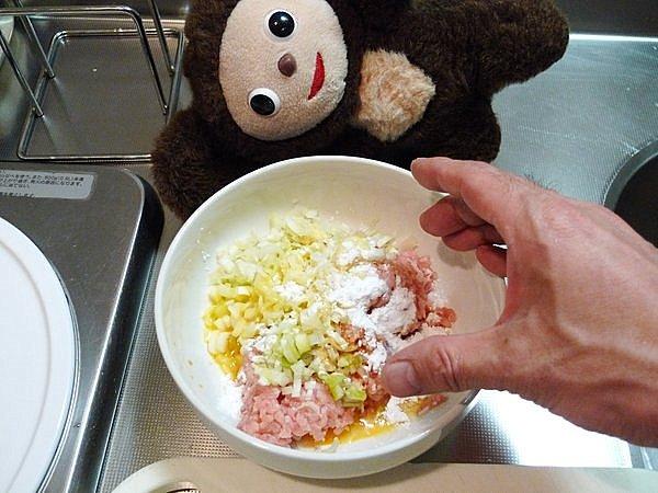 鶏つみれ鍋の作り方(1)