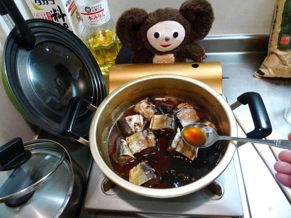 サンマ煮付けの作り方(4)