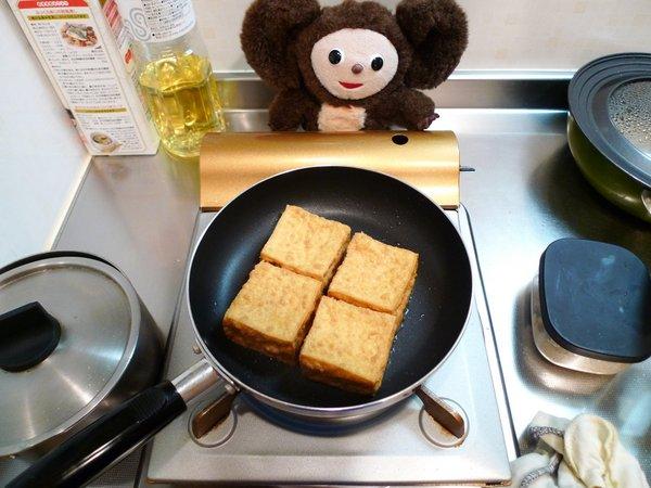 なんちゃって揚げ出し豆腐の作り方(4)