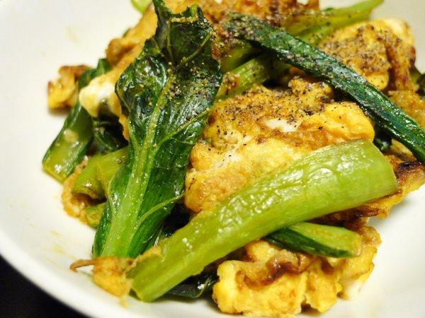 小松菜のポパイ炒め