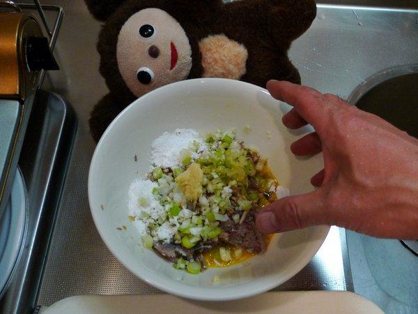 イワシのつみれ鍋の作り方(4)