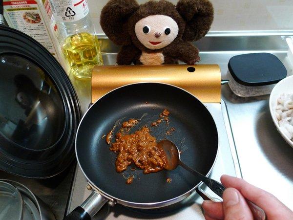イカわたの炒りつけ作り方(2)