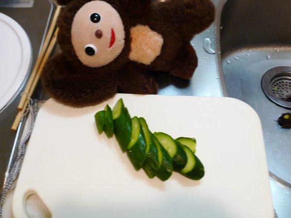 キュウリと玉ねぎのツナポンの作り方