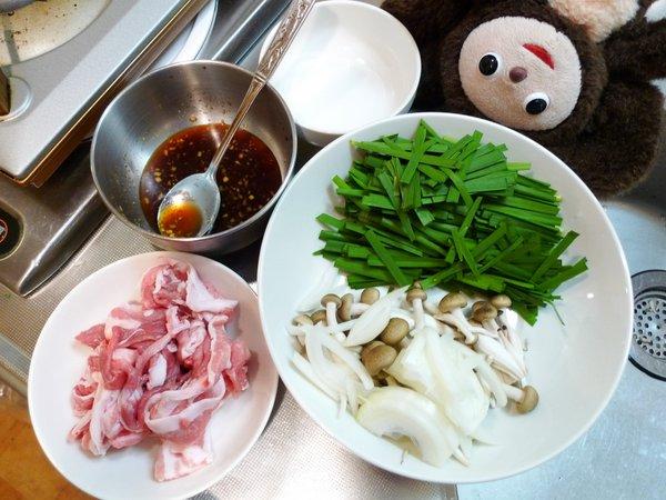 豚ニラ炒め丼の作り方(1)