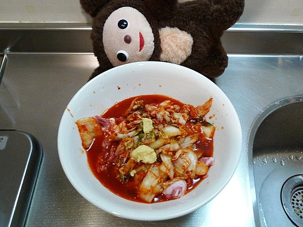 ニラ入り豚キムチの作り方(1)