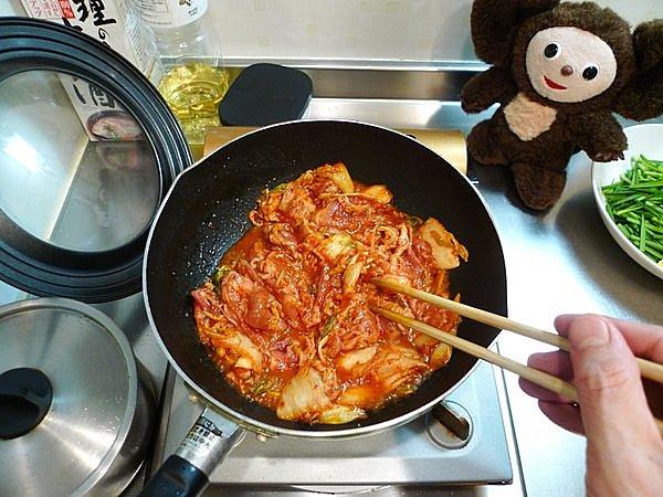 ニラ入り豚キムチの作り方(3)
