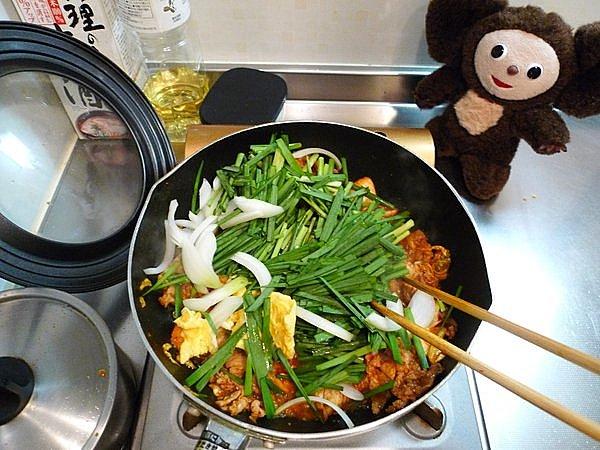 ニラ入り豚キムチの作り方(4)