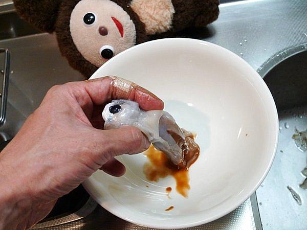 イカワタ味噌炒めの作り方(1)