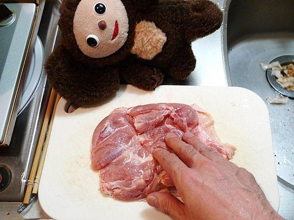 鶏モモ肉塩焼きの作り方(1)