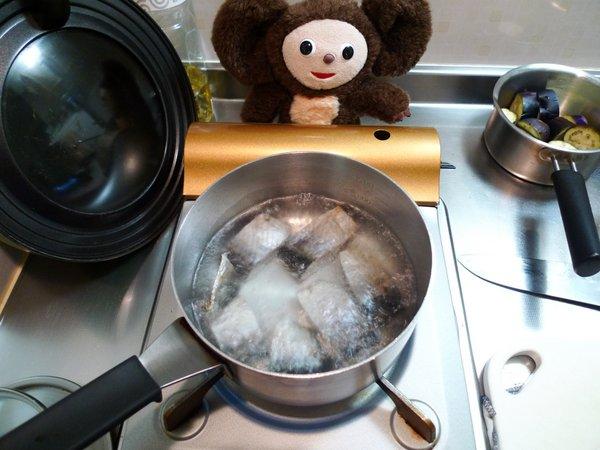 にしんとナスの炊合せ作り方(3)