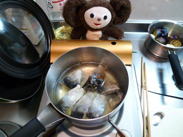 にしんとナスの炊合せ作り方(4)