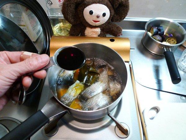 にしんとナスの炊合せ作り方(5)