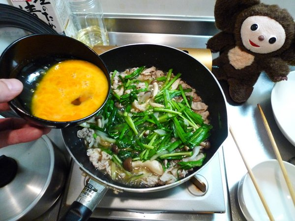 豚肉のニラ玉の作り方(5)
