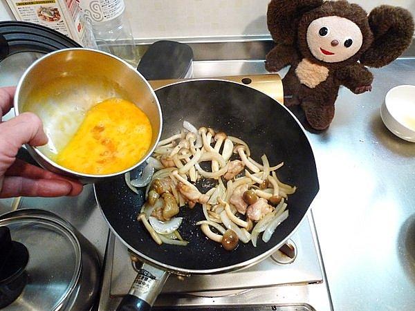親子炒めの作り方(2)