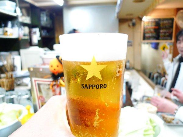 てら 生ビール