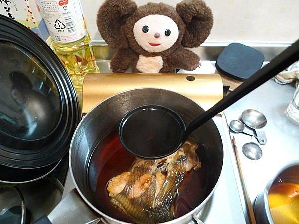カレイ煮付けの作り方(4)