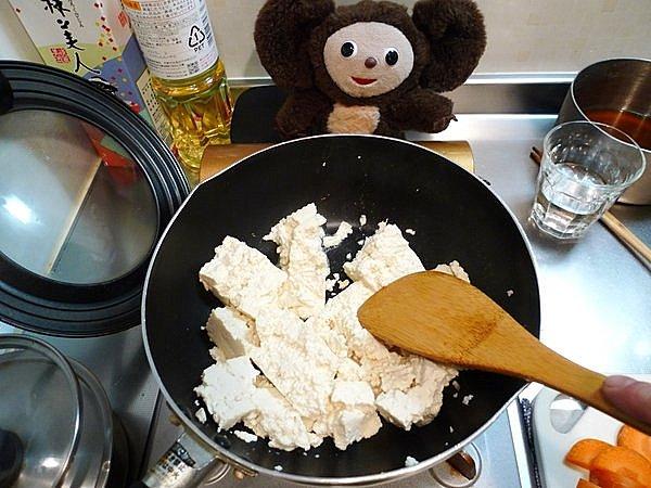 炒り豆腐の作り方(2)