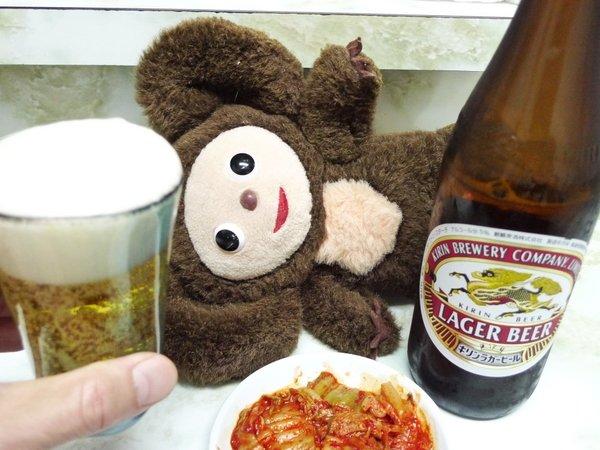 新福菜館三条店 ビール