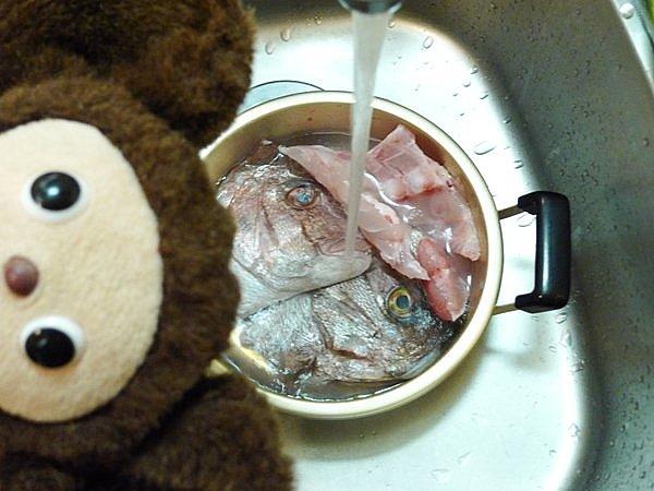 鯛のあら炊き作り方(1)