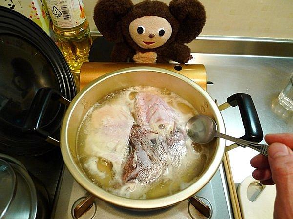 鯛のあら炊き作り方(3)