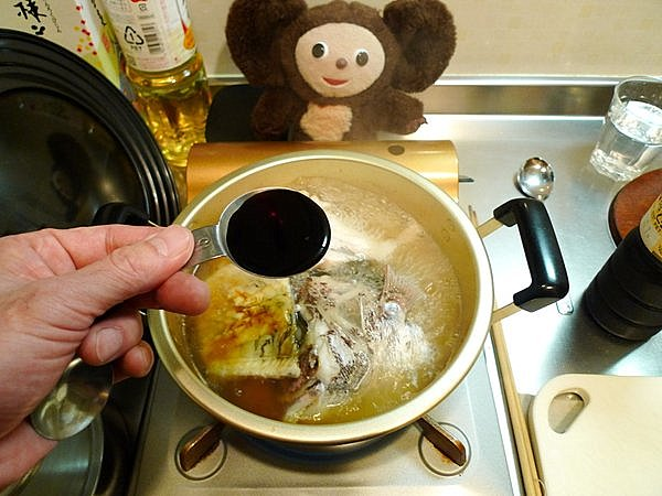 鯛のあら炊き作り方(4)
