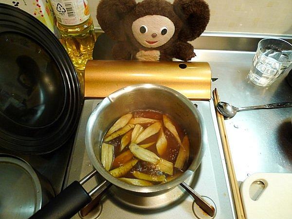 鯛のあら炊き作り方(5)