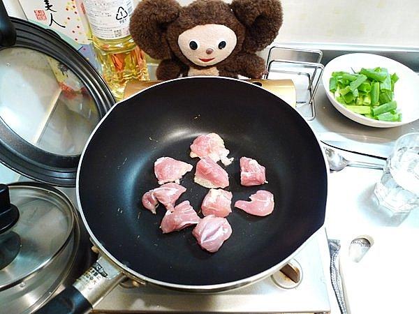 親子炒め作り方(1)