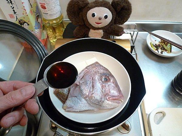 鯛の酒蒸し作り方(3)