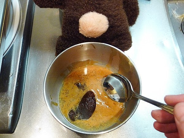 ゆでイカのワタ味噌付け作り方(3)