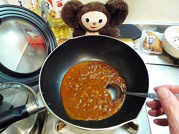 ゆでイカのワタ味噌付け作り方(4)