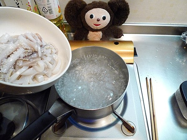 ゆでイカのワタ味噌付け作り方(5)