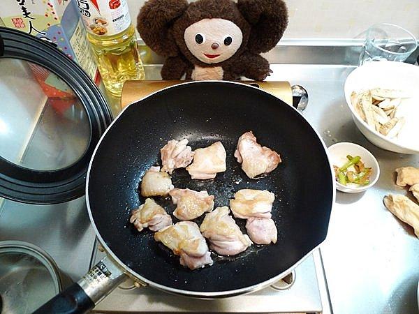 鶏とゴボウのみそ煮込み作り方(3)