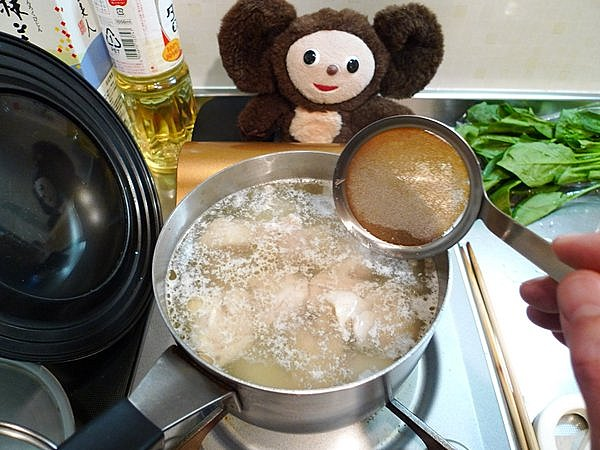 鶏肉入りの大根煮作り方(4)