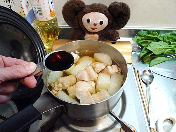 鶏肉入りの大根煮作り方(5)