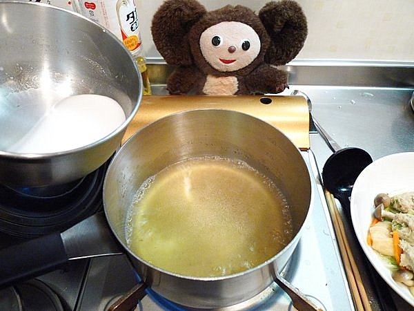 鶏つみねと野菜のあんかけ作り方5
