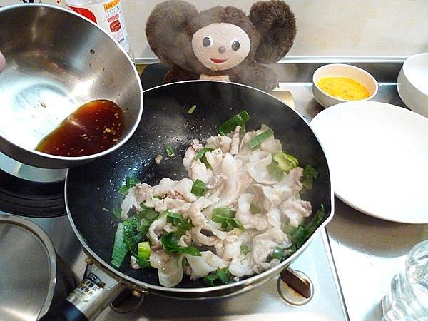 豚肉の卵炒め作り方2