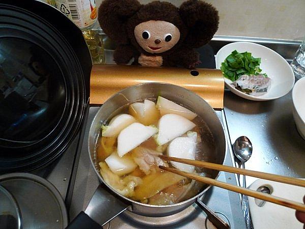 鶏とカブのあんかけ煮作り方5