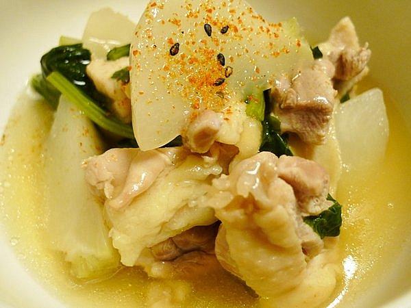 鶏とカブのあんかけ煮