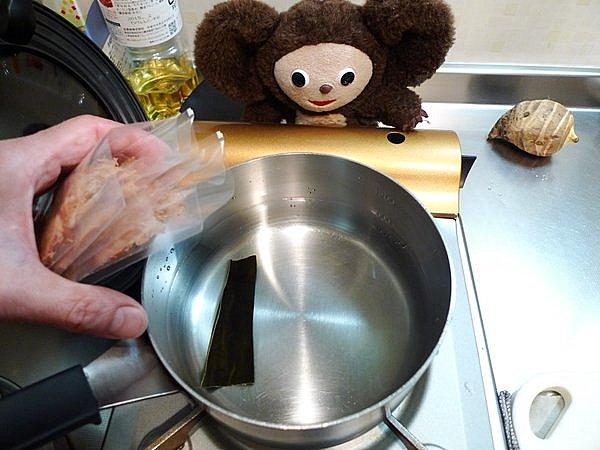 紅鮭の粕汁作り方2