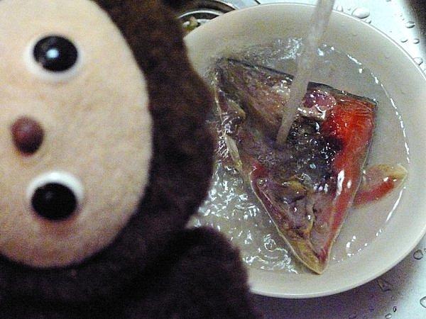 紅鮭の粕汁作り方1