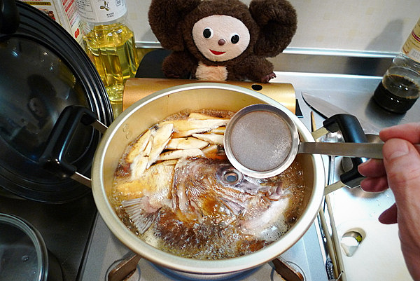 鯛あら煮付けの作り方(2)