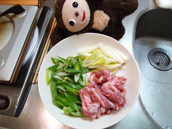 豚ネギ塩炒め丼の作り方(1)