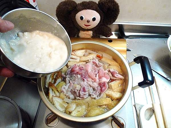 具だくさんの豚の粕汁 作り方