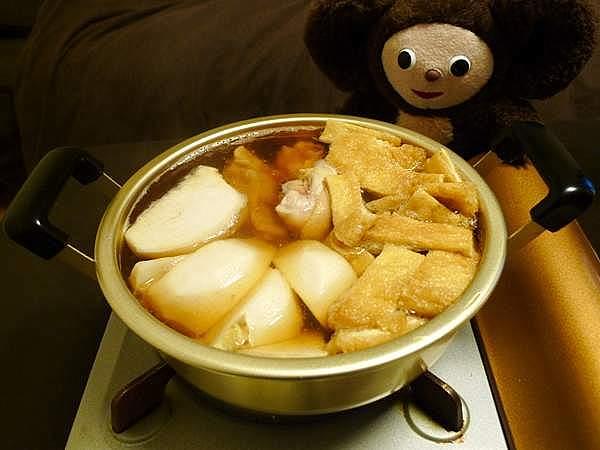 カブと鶏肉の煮物 作り方