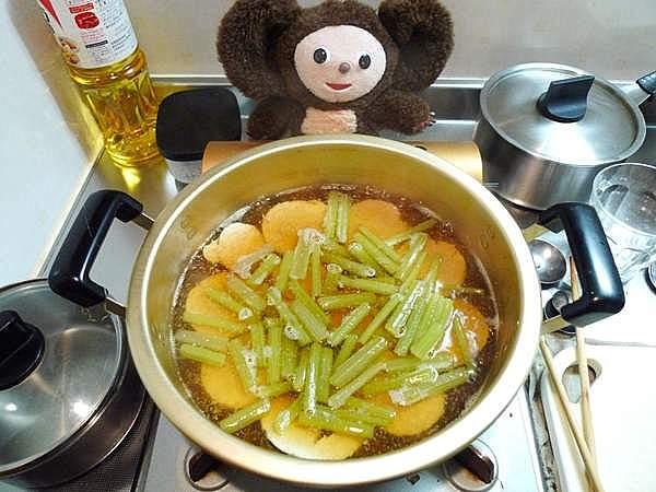 「子」とフキの炊き合わせ 作り方