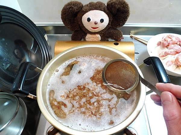 鶏と根菜のすまし汁 作り方